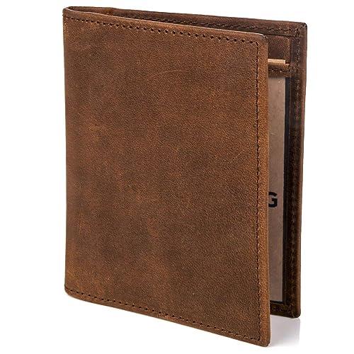 e4b77aacbb RFID Blocking Full Grain Leather Wallet for Men
