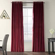 Half Price Drapes VPCH-VET1216-108-GR Extra Wide Grommet Blackout Velvet Curtain, Burgundy, 100 x 108