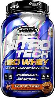Whey Protein Isolate | MuscleTech Nitro-Tech Elite 100% Whey Isolate Protein Powder | Whey Protein Powder for Women & Men ...