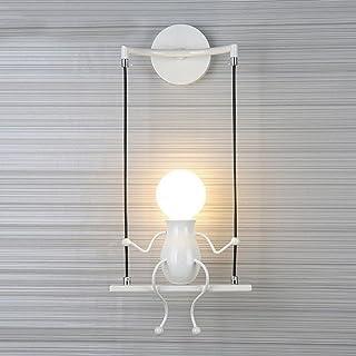 comprar comparacion HanLinLight - Lámpara mural de aplique con un simpático y moderno diseño de columpio - Para 1 bombilla con casquillo E27 -...
