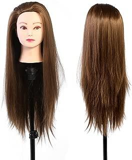 メイクアップマネキンヘッド美容院のトレーニングヘッド美容師の人形頭のブラウンブラウン