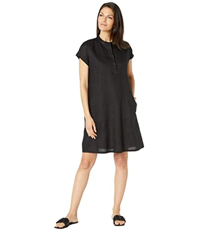 Eileen Fisher Classic Collar Dress in Organic Linen
