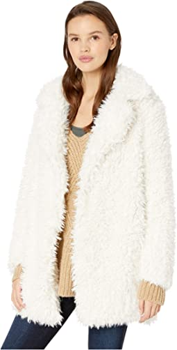Fuzzy Faux Fur Coat
