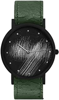 South Lane Swiss Quartz Stainless Steel and Leather Casual Watch, Color:Black (Model: core-SL-220)
