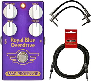 Mad Professor Royal Blue Tranparent Overdrive Pedal w/ 3 Cables