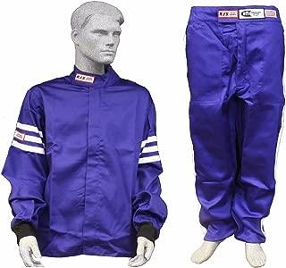 Racerdirect RJS Racing SFI 3.2A/1 Classic FIRE Suit Race Jacket & Pants Blue Size Adult XL
