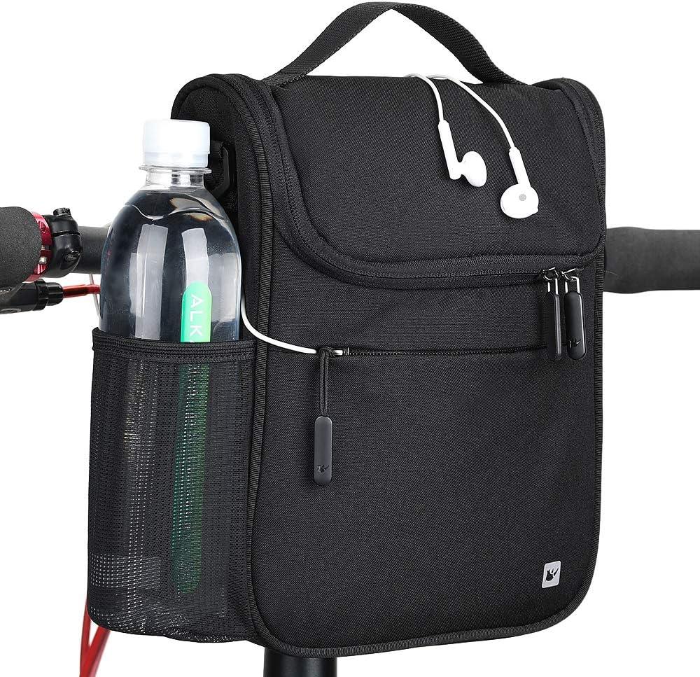 Rhinowalk Bike Handlebar Bag Bicycle Front Tube Bag Bike Basket with Raincover Cycling Accessories Pack