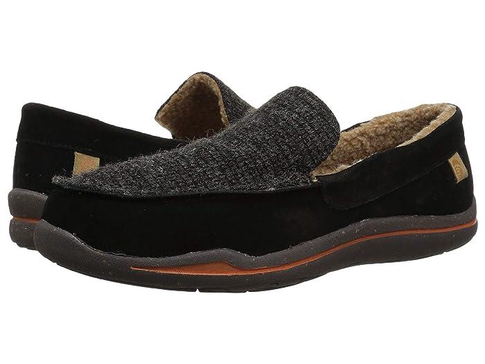 Acorn  Ellsworth Suede Moc (Black) Mens Slippers