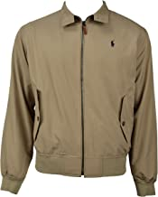 Polo Ralph Lauren Mens Lightweight Polyester Bi-Swing Full Zip Windbreaker Jacket Khaki Beige