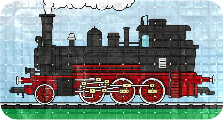 Unicey Non Slip Bathtub Mat Locomotive Train Mats Shower Dealing full price 25% OFF reduction wit Tub