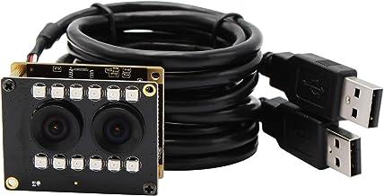 WDR Dual Lens USB Webcam 2 MP Mini Camera Module Full HD 1080P USB with Cameras AR0230 Sensor USB Camera,90 Degree NO Dist...