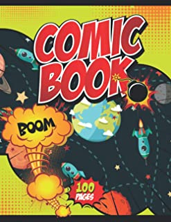 Comic Book Boom!: Notebook and Sketchbook for Kids and Adults to Unleash Creativity | Draw Your Own Comics! (Galaxy Themed...