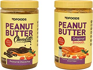 DFOODS ORIGINAL CHOCOLATE AND ORIGINAL SMOOTH PEANUT BUTTER COMBO 1250G EACH