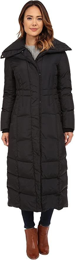 Down Coat with Oversized Collar