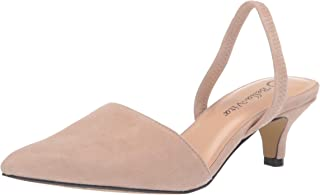 Bella Vita Women's Sarah Slingback Dress Shoe Pump, Almond Kidsuede Leather, 11 W US