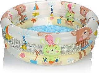 com-four® Piscina Infantil Redonda para niños - Piscina Infantil Hinchable - Piscina - pequeña Piscina sobre el Suelo para jardín - Aprox.61 x 22 cm