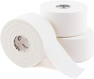 Athletic Sports Tape (White)   Strong Easy Tear  Perfect for Bats/Lacrosse/Hockey Sticks/Climbers and Boxing (3 Pack)