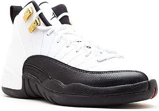 NIKE Boys Air Jordan 12 Retro (GS) Taxi Leather Basketball Shoes