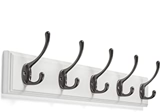Wall Mounted Coat Rack - with 5 Hooks by Kloveyleaf – Modern Décor for Hanging Towels, Keys, Jackets, Dog Leash for Bedroom, Hallway, Entryway, Mudroom – Mounting Hardware Included