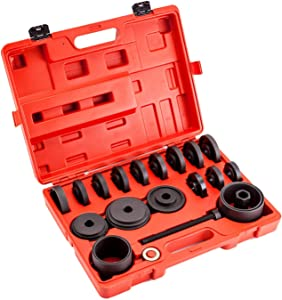 Front Wheel Drive Bearing Hub Removal and Installation Tool Kit FWD Adapter Puller Pulley Extractor 23pcs