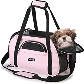JESPET Soft Pet Carrier for Small Dogs, Cats, Puppy, Airline Approved Pet Carrier for Airline, Train, Car Travel