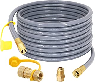 """SUMNEW 36 Feet 1/2 inch ID Natural Gas Hose, Quick Connect/Disconnect Fittings with 3/8"""" Female by 1/2"""" Male Adapter for G..."""