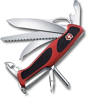 Vcitorinox Swiss Army RangerGrip 58 Hunter Multi-Tool Pocket Knife, Black/Red, 130mm