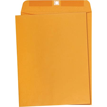 Amazon Basics 10 x 13-Inch Clasp Kraft Envelopes, Gummed, 100-Pack