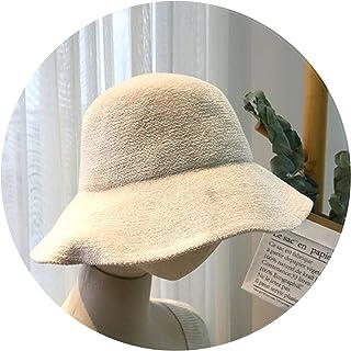 d4932358681 Autumn and Winter Women s Bucket Hats Fashion Japanese Plush Fisherman  hatsolid Casual Retro Cap
