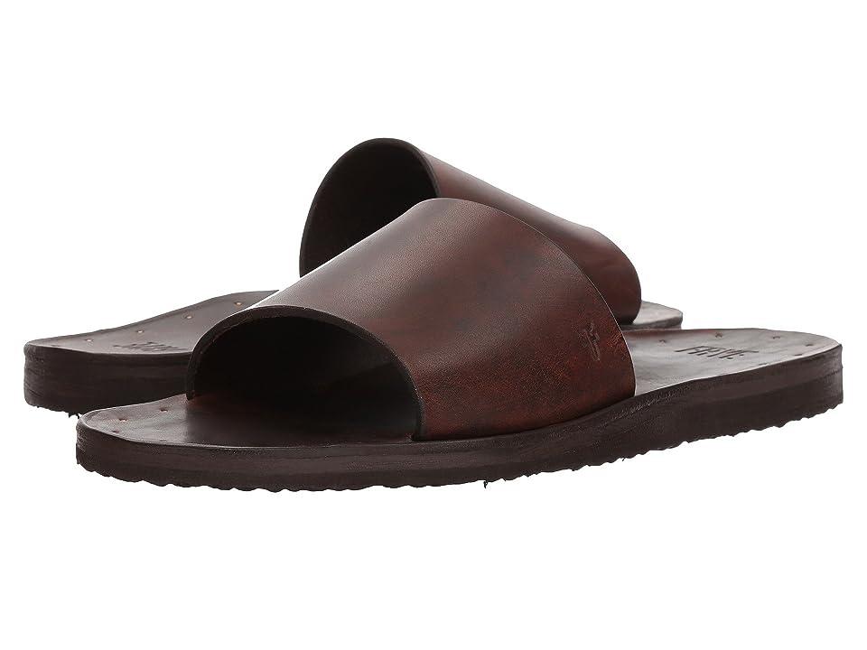 Frye Cape Slide (Brown Smooth Full Grain) Men