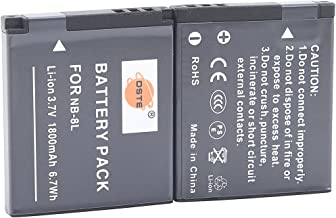 DSTE Replacement for 2X NB-8L Li-ion Battery Compatible Canon PowerShot A2200 A3000 A3100 A3200 A3300 is Digital Cameras