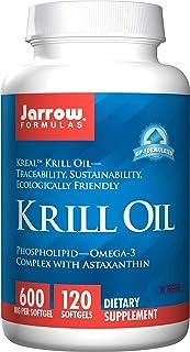 Jarrow Formulas Krill Oil with Phospholipid-Omega-3 Astaxanthin, Supports Healthy Brain Function Metabolic Health, 600 mg ...