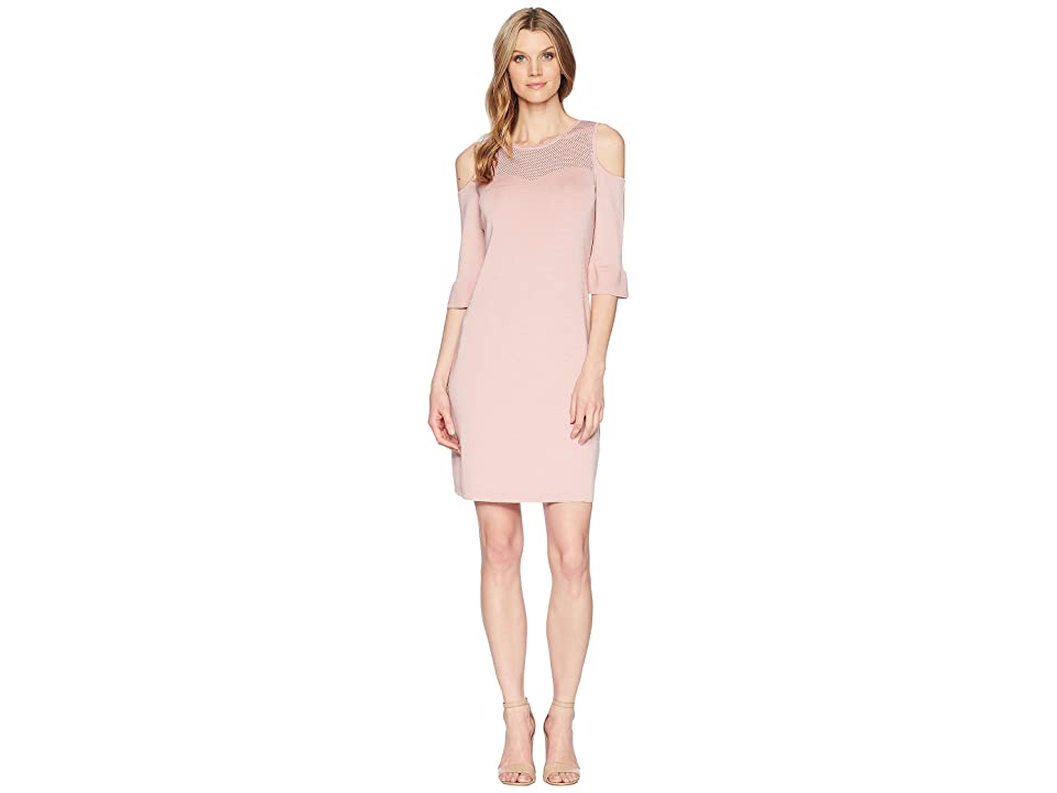 NIC+ZOE Pointelle Pattern Dress (Pink Dust) Women