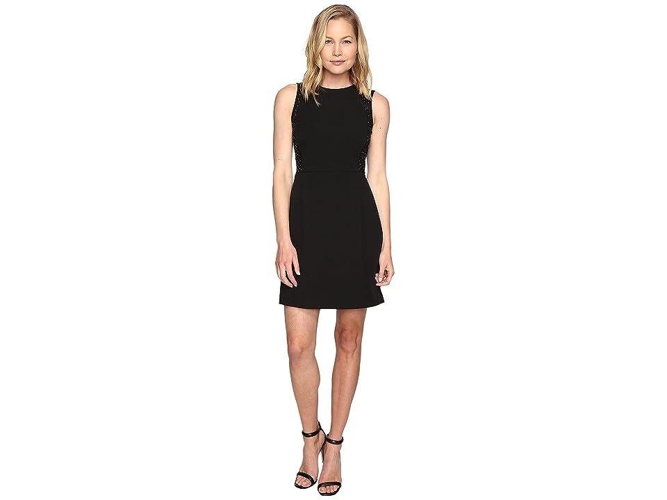 MICHAEL Michael Kors Tulle Insert Dress (Black) Women