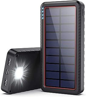 comprar comparacion Dyw Cargador Solar 26800mAh, Batería Externa Solar con Entrada Tipo C y 2 Salidas USB, Power Bank Solar de Carga Rápida co...