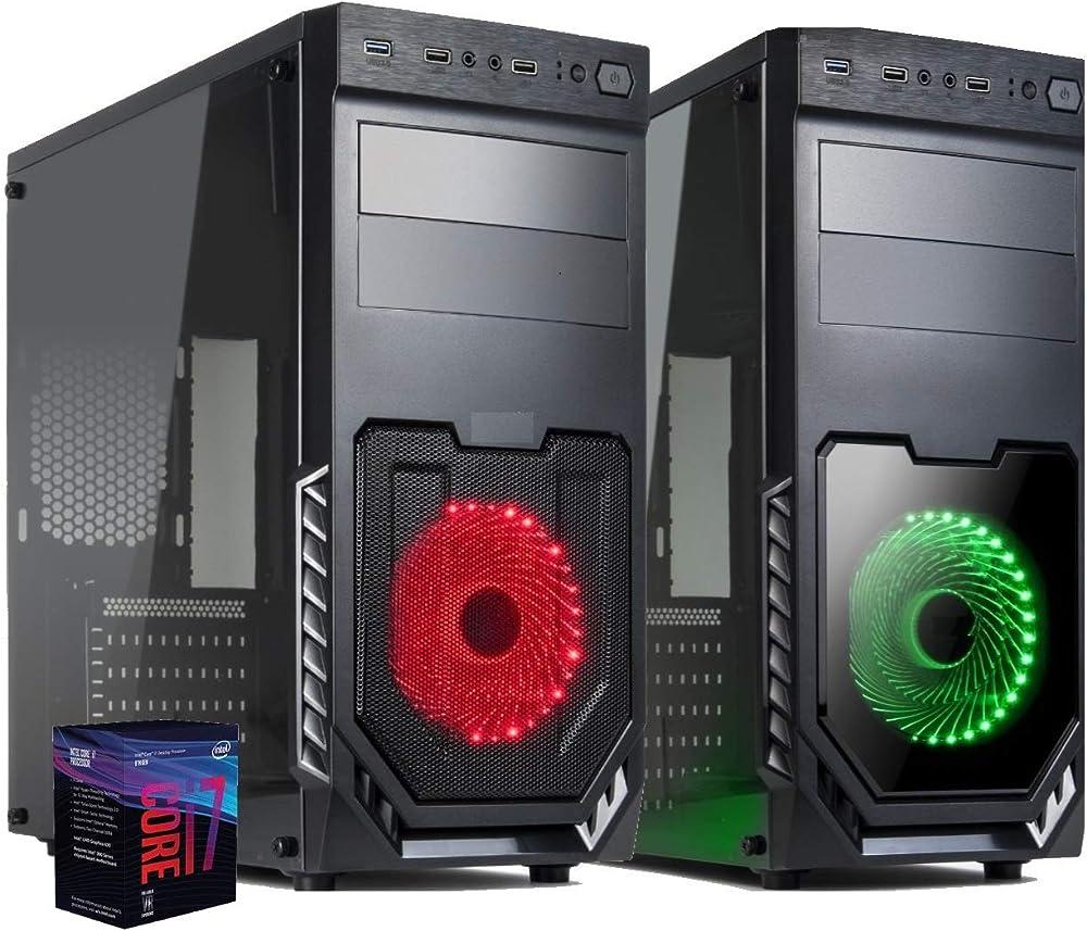 Pc fisso cpu intel six core i7 gpu intel uhd 630/ ram 16gb ddr4/ ssd m.2 nvme 240 gb/hd 1tb