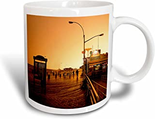 3dRose Coney Island Boardwalk Mug, 15-Ounce