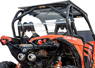 SuperATV Heavy Duty Clear Rear Windshield for Can-Am Maverick (2013-2018) - 250x Stronger than Glass!