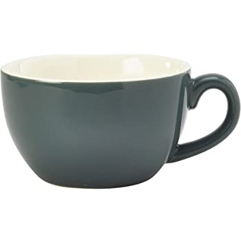 Royal Genware Bowl Shaped Cup Blue 8.75oz 250ml (Pack of 6)