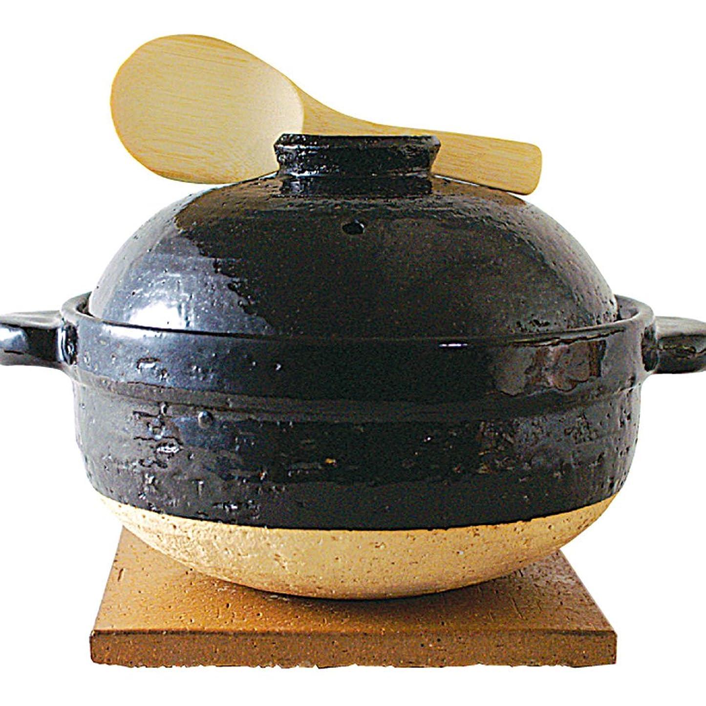 くそー嘆願根絶する長谷園 土鍋 ごはん土鍋 かまどさん 3合炊き 直径:240mm ごはん土鍋 伊賀焼窯元
