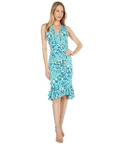 BCBGMAXAZRIA Printed Matte Jersey Dress