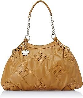 Butterflies Women's Handbag (Camel)(BNS 0347)