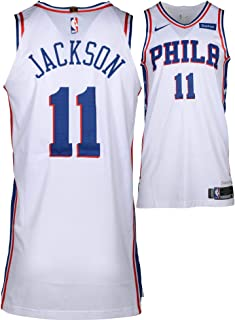 9be99d606cc Demetrius Jackson Philadelphia 76ers Player-Issued #11 White Jersey from  the 2017-18