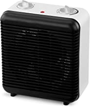 NETTA Fan Heater Electric Upright 2000W Portable Mini Heater With Two Heat Settings,Thermostat and Safety Cut-Off, and Cool Air Fan for Home, Office Use - Black