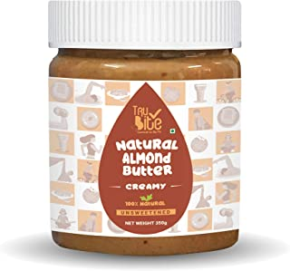 Trubite Natural Almond Butter (Creamy) (350g) | Unsweetened | 24g Protein | Ideal for Keto Diet | No Added preservatives |...