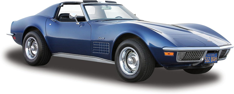 Maisto 31202bl 1970 Chevrolet Corvette bluee 1-24 Diecast Model Car