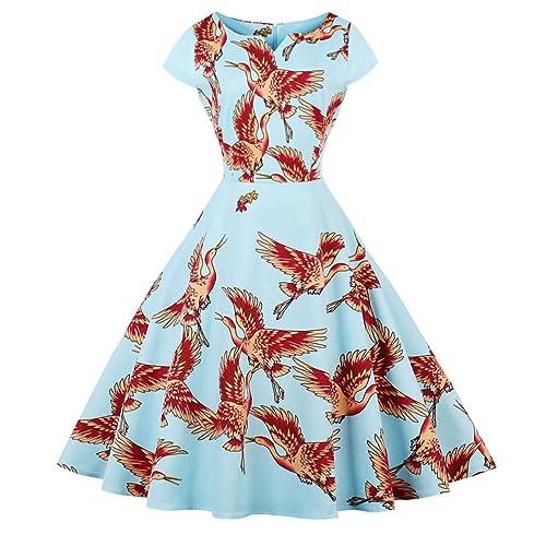 FAIRY COUPLE Vintage Rockabilly Cap Sleeves Prom Dress DRT019 df107daee