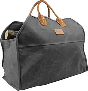 INNO STAGE Waxed Canvas Firewood Log Carrier, Extra Large...