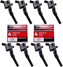 MAS Set of 8 Ignition Coil DG508 and Motorcraft Spark Plug SP493 for Ford Lincoln Mercury 4.6L engines DG457 DG472 DG491 F523 3W7Z12029AA 1L2U12029AA 1L2U12A366A