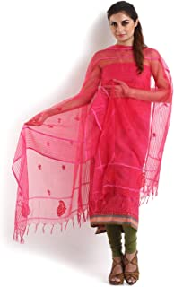 Magenta South Cotton Suit with Chikankari